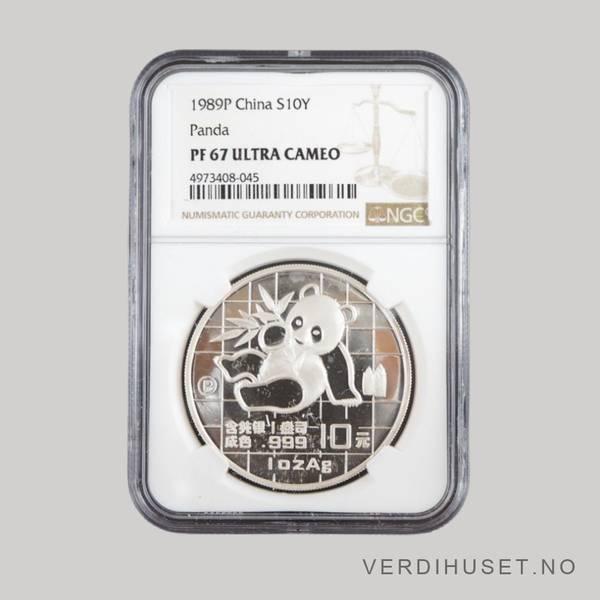 Bilde av 10 Yuan 1989 PF 67 Ultra Cameo - Panda