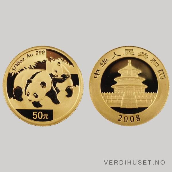 Bilde av 50 Yuan 2008 - Panda
