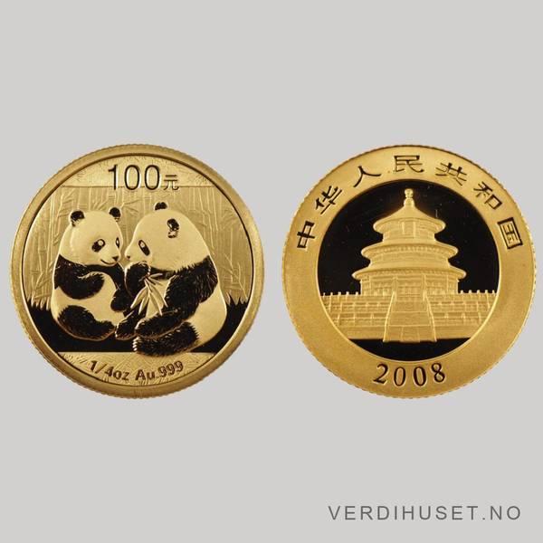 Bilde av 100 Yuan 2008 - Panda