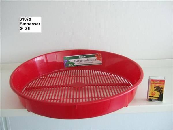 Bilde av Bærrenser, plast, rund, rød