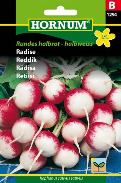 Bilde av Reddik Rundes halbrot - halbweiss(Lat: Raphanus