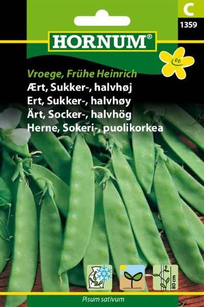 Bilde av Ert, Sukker, halvhøyVroege, Frühe Heinrich(Lat: