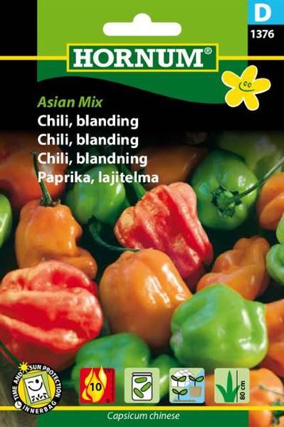 Bilde av Chili, blanding,Asian Mix(Lat: Capsicum chinese)