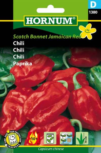 Bilde av Chili Scotch Bonnet Jamaican Red(Lat: Capsicum