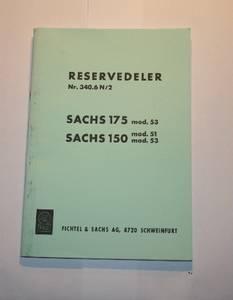 Bilde av Reservedelsliste, Sachs S-150