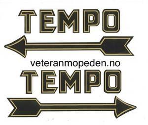 Bilde av Dekal, Tempo, rett