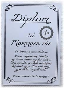 Bilde av Diplom -Mamma
