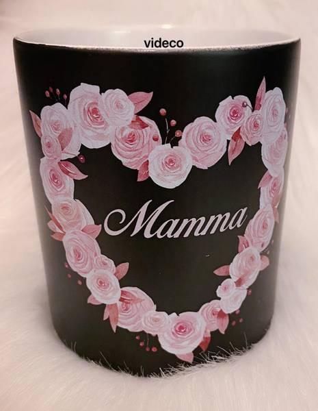 Kopp- Mamma m/rosehjerte