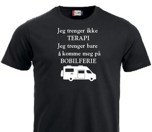 Bilde av T-shirt- Jeg trenger ikke terapi. Jeg trenger bare og komme