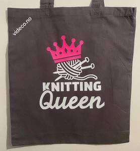 Bilde av Tøyveske, Knitting Queen
