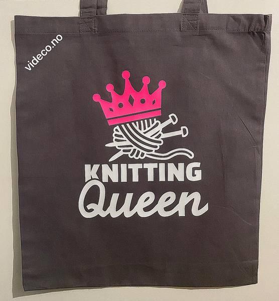Tøyveske, Knitting Queen