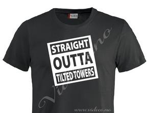 Bilde av T-shirt- Straight outta tilted towers (barn)