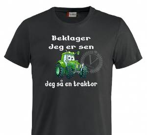 Bilde av T-shirt, Beklager- jeg er sen, Jeg så en traktor