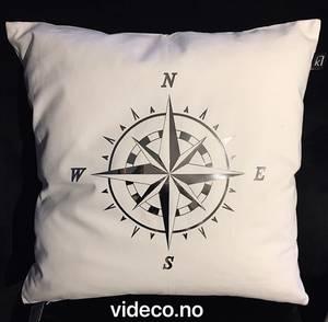 Bilde av Putetrekk- hvit m/kompass
