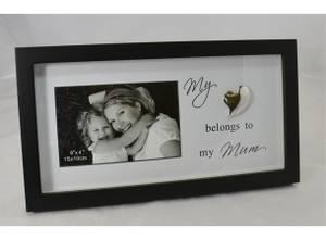 Bilde av Ramme i tre med hjerte, Mum.