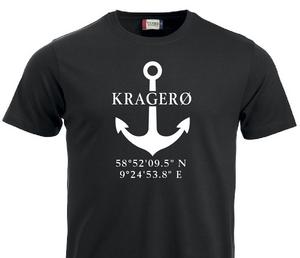 Bilde av T-shirt, Anker/stedsnavn/breddegrad