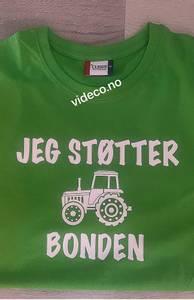 Bilde av T-shirt, Jeg støtter bonden m/motiv