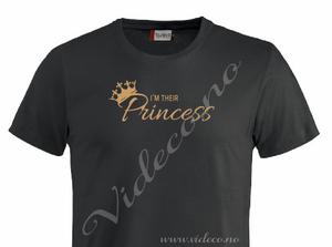 Bilde av T-shirt, I´m their princess