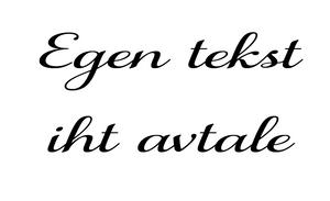 Bilde av Tekst etter avtale