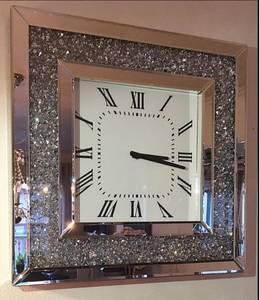 Bilde av Veggklokke Speil/diamanter