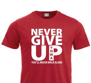 Bilde av T-shirt - NEVER GIVE UP YNWA