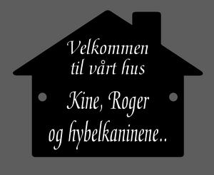 Bilde av Akrylskilt - Hus