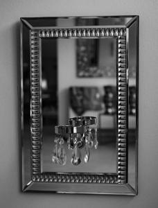 Bilde av Speil m/glass dekor
