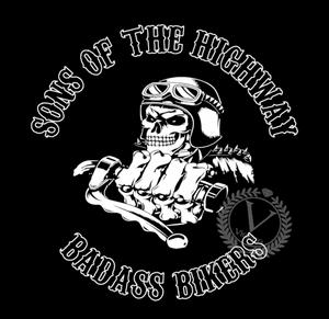 Bilde av Hoodie- Sons of the highway badass bikers