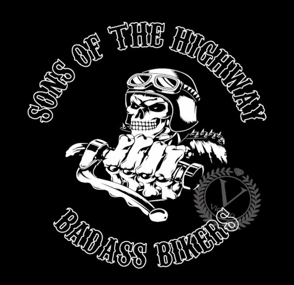 Hoodie- Sons of the highway badass bikers