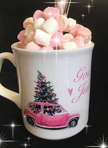 Bilde av Julekopp m/rosa bil - god jul