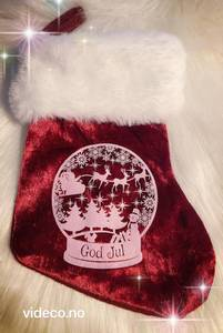 Bilde av Julesokk - god jul og bilde