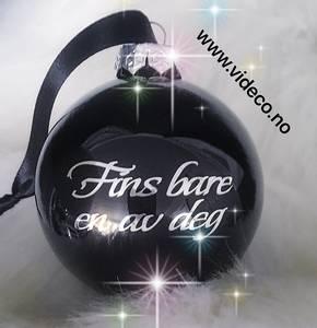 Bilde av Julekule med navn- sort