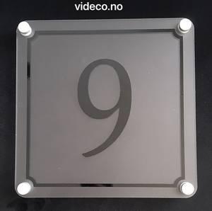 Bilde av Skilt- husnummer, frostet. 20x20cm