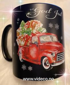 Bilde av Kopp- Sort m/røb bil- god jul
