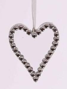Bilde av Glasshjerte m/diamanter
