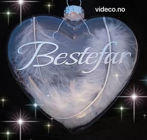 Bilde av Glasskule, hjerte- Eget navn