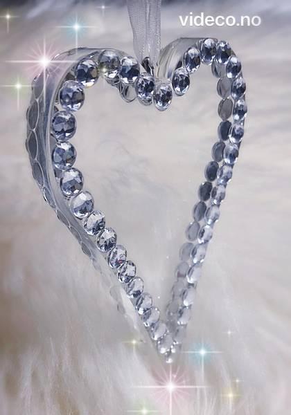 Hjerte m/bling i 2 str