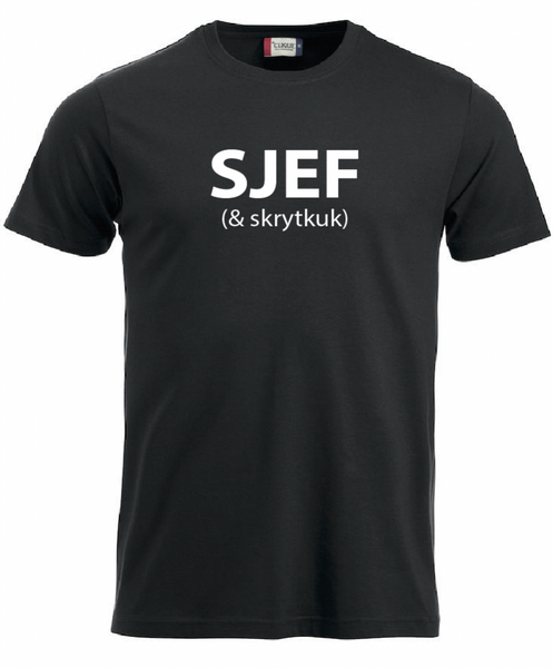 T-shirt, SJÆF (& skrytkuk)
