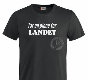Bilde av T-shirt, Tar en pinne for LANDET