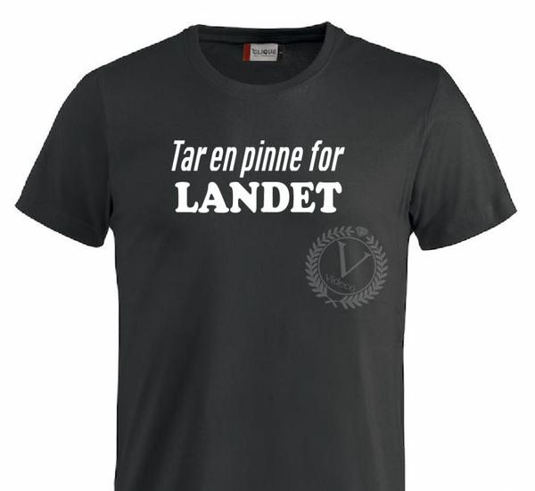 T-shirt, Tar en pinne for LANDET