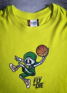 Bilde av T-shirt- skjelett spiller basket