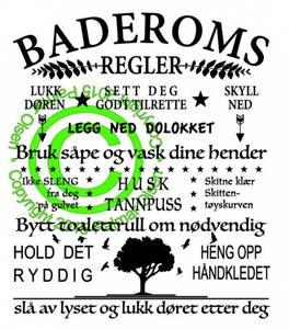 Bilde av Baderomsregler
