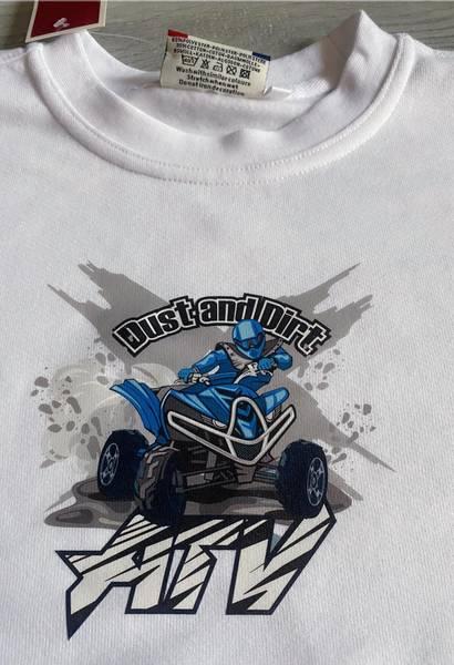 T-shirt, Atv blå
