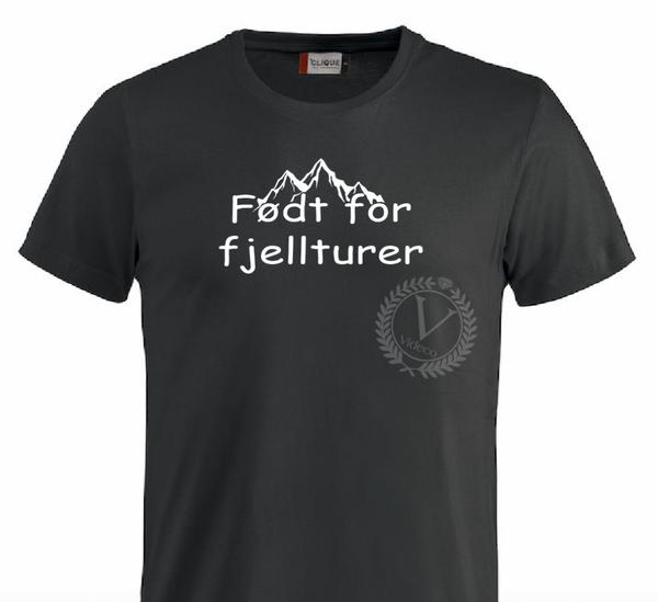T-shirt, Født for Fjellturer