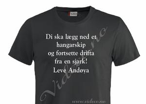 Bilde av t-shirt - Legg ned drifta