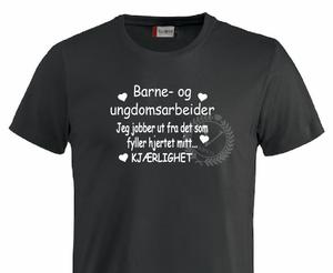 Bilde av T-shirt, Barne og ungdomsarbeider