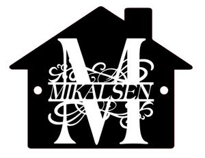 Bilde av Akrylskilt - Hus med monogram