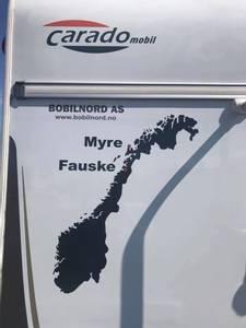 Bilde av Bildekor - Norge med stedsnavn