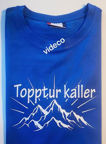 T-shirt, Topptur kaller