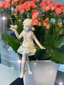 Bilde av Blomsterstikke, hvit/brunsort